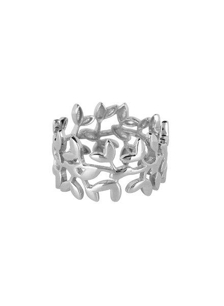 Marissa Eykenloof Nyssa wide tree ring  silver