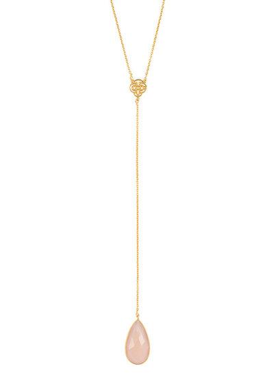 Marissa Eykenloof Necklace gold with Rose Quartz