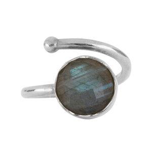 Marissa Eykenloof Zilveren ring met Labradoriet