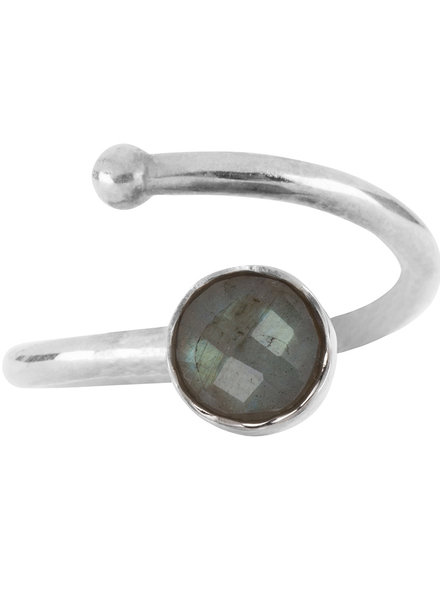 Marissa Eykenloof Zilveren ring met Labradoriet voor kinderen
