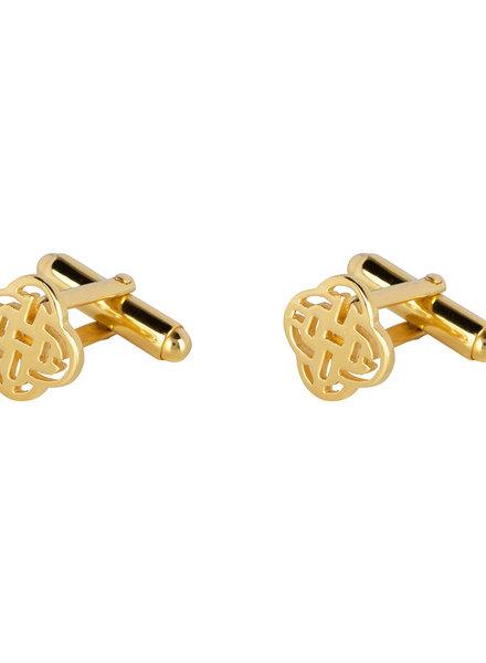 Marissa Eykenloof Gold Rudy logo Cufflink