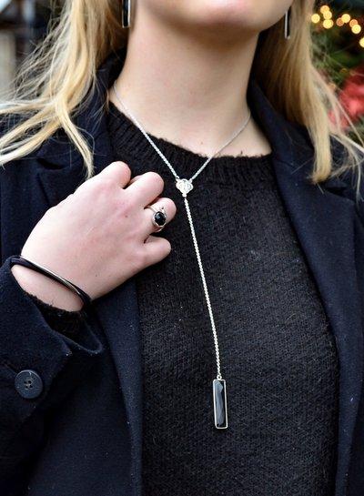 Marissa Eykenloof Ketting zilver met Zwarte Onyx