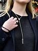 Marissa Eykenloof Silver necklace with Black Onyx