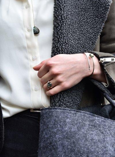 Marissa Eykenloof Zilveren armband met Labradoriet  kinderen