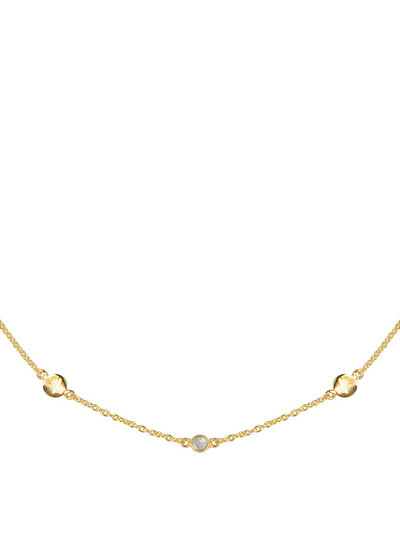 Marissa Eykenloof Gouden ketting met Bergkristal