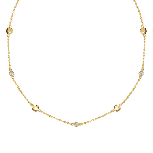 Marissa Eykenloof Gold necklace with Rock Crystal