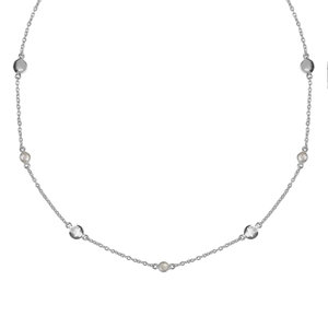 Marissa Eykenloof Silver necklace with Rock Crystal
