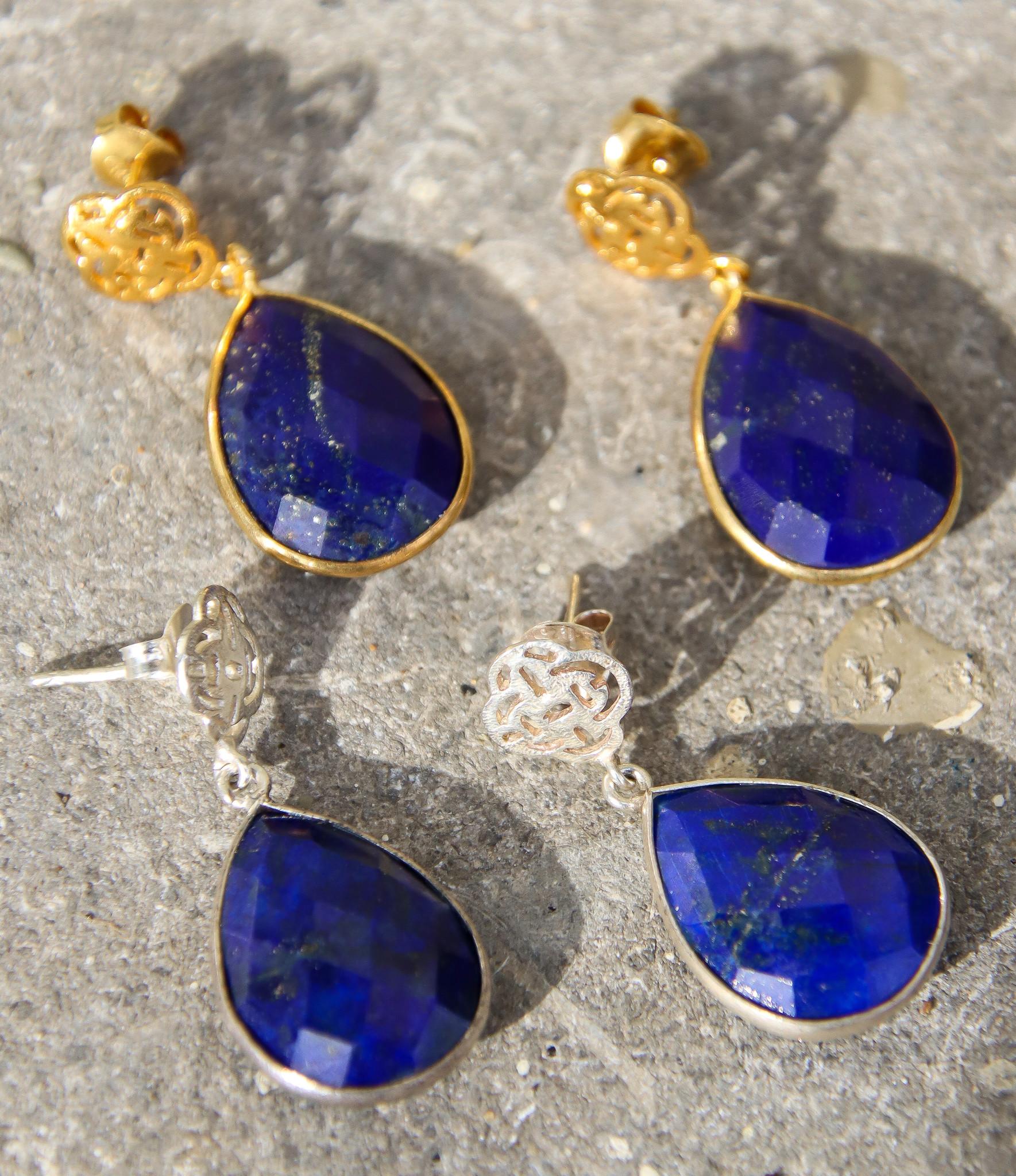 lapis lazuli earring oorbel