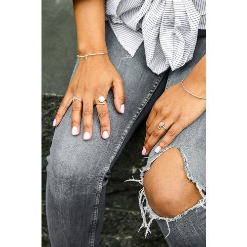 Marissa Eykenloof Silver ring Rose Quartz