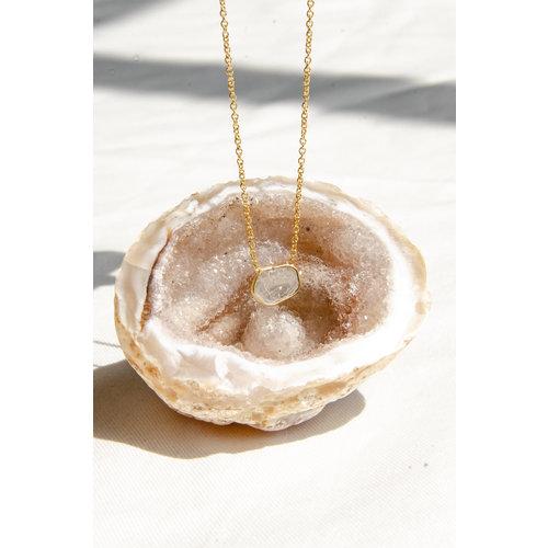Marissa Eykenloof Fine jewelry: 14ct Gold necklace with sliced diamond