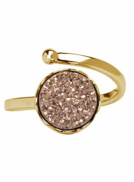 Marissa Eykenloof Gold druzy ring