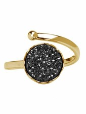 Marissa Eykenloof Gold druzy ring