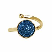 Gouden ring met druzy