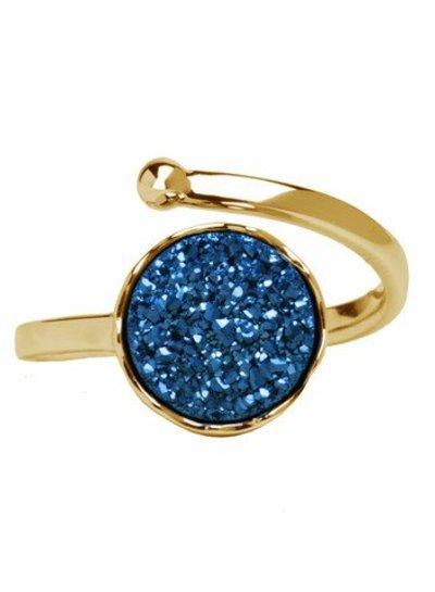 Marissa Eykenloof Gold druzy ring blue agate