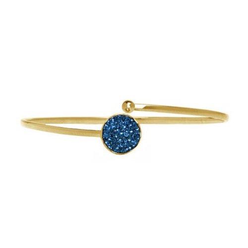 Marissa Eykenloof Gold druzy bracelet blue agate