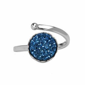 Marissa Eykenloof Zilveren ring met druzy