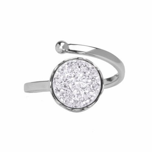 Marissa Eykenloof Silver druzy ring