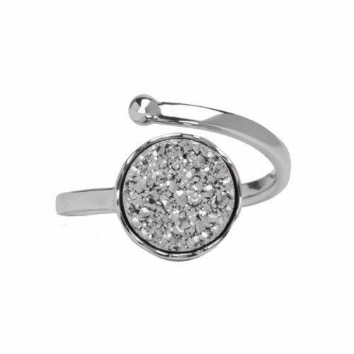 Marissa Eykenloof Silver druzy ring silver agate