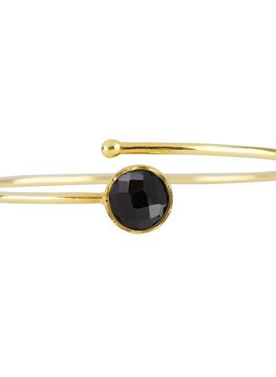 Marissa Eykenloof Gouden armband met Zwarte Onyx