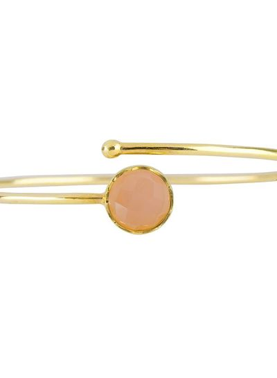Marissa Eykenloof Gold bracelet Rose Quartz