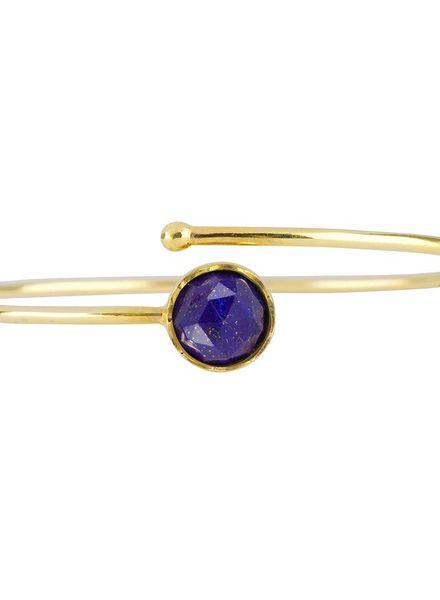 Marissa Eykenloof Gold bracelet Lapis Lazuli