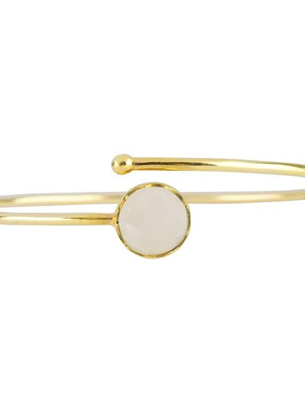 Marissa Eykenloof Gold bracelet Rainbow Moonstone