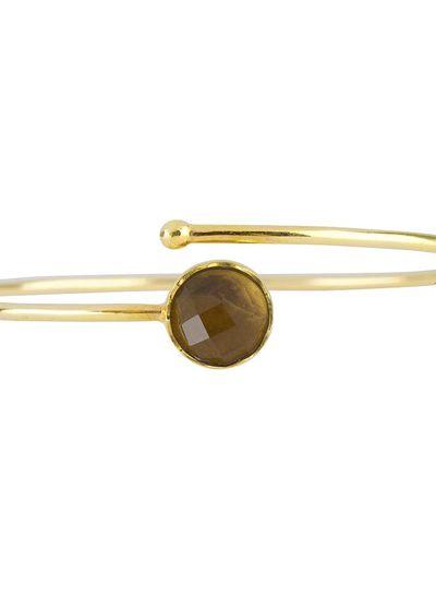 Marissa Eykenloof Gouden armband met Smoky topaas