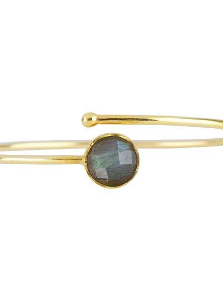 Marissa Eykenloof Gouden armband met Labradoriet