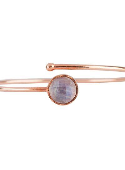 Marissa Eykenloof Rose gold bracelet Rainbow Moonstone