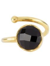Marissa Eykenloof Gouden ring met Zwarte onyx