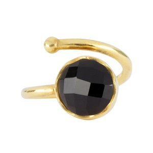 Marissa Eykenloof Gold ring Black onyx
