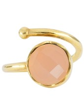 Marissa Eykenloof Gold ring Rose Quartz