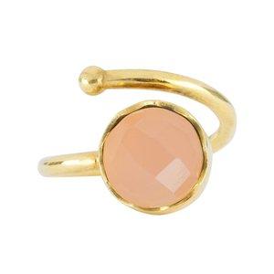 Marissa Eykenloof Gold ring Rose Quartz