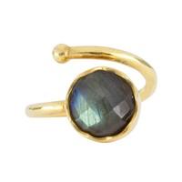 Gold ring Labradorite