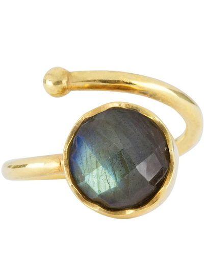 Marissa Eykenloof Gouden ring met Labradoriet