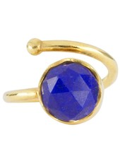 Marissa Eykenloof Gouden ring met Lapis Lazuli