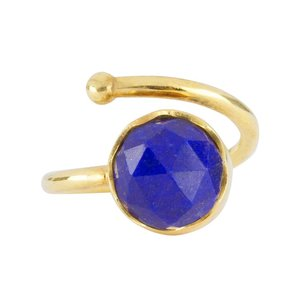 Marissa Eykenloof Gold ring Lapis Lazuli