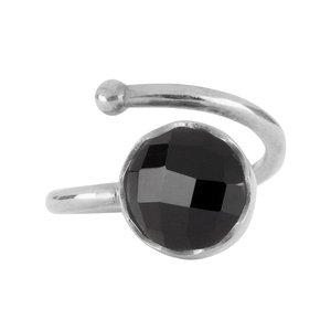 Marissa Eykenloof Silver ring Black onyx