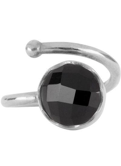 Marissa Eykenloof Zilveren ring met Zwarte onyx