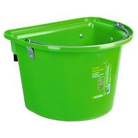 Kerbl Voeremmer met ophanghaken en hengsel, fel-groen