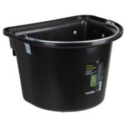 Kerbl Voeremmer met ophanghaken en hengsel, zwart 12L