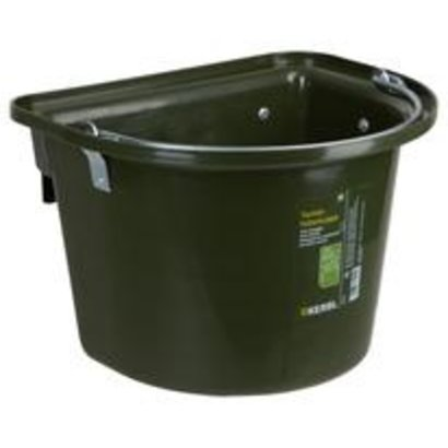 Kerbl Voeremmer met ophanghaken en hengsel, donkergroen 12L
