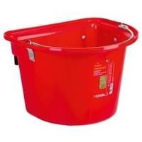 Kerbl Voeremmer met ophanghaken en hengsel, rood