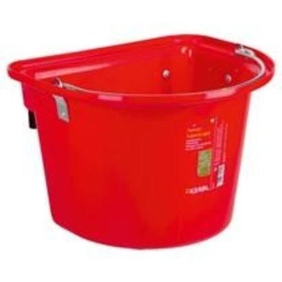Kerbl Voeremmer met ophanghaken en hengsel, rood 12L