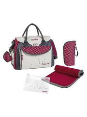 Babymoov Diaper bag Baby Style Chic A043510 Cream / Red - 36 x 28 x 21.5 cm