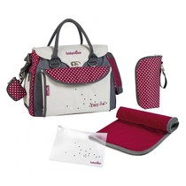 Luiertas Baby Style Chic A043510 Crème/Rood - 36 x 28 x 21,5 cm