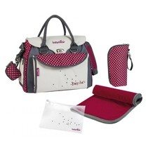 Diaper Bag Baby Style Chic A043510 Cream/Red - 36 x 28 x 21.5 cm