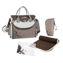 Diaper Bag Baby Style Natural A043513 Brown / Cream  - 36 x 28 x 18 cm