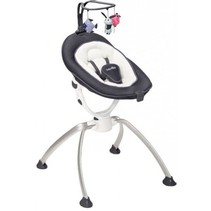 Deck Chair Swoon Up Zinc A012423 White/Black - 55 x 96 x 57 cm
