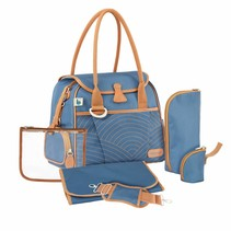 Diaper Bag Style Bag A043589 Blue with stripes - 36 x 28 x 21,5 cm